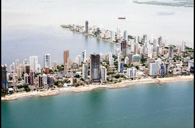 Bocagrande y El Laguito: Vista aérea.