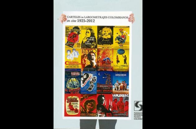 Portada del libro que recoge  87 años de carteles de cine de Colombia.