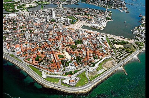 Cartagena, vista desde el aire