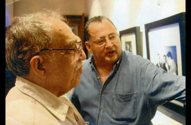 García Márquez en La Cueva, con Heriberto Fiorillo.