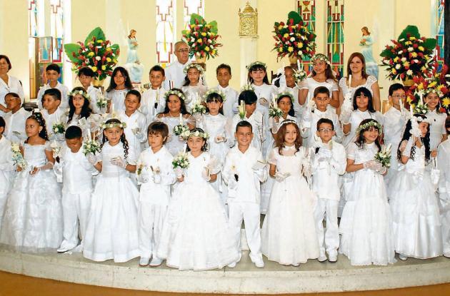 Primera comunión del  Gimnasio Bilingue Altamar de Cartagena
