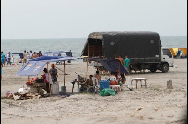 comidas estacionarias en las playas