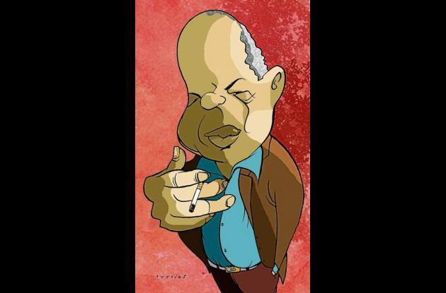Caricatura del poeta Jorge Artel.