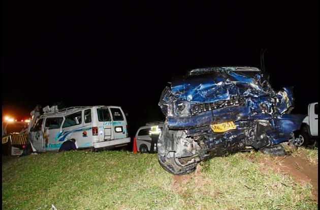 accidente de transito kilómetro 42 de la Vía al Mar, frente a Palmarito, en San