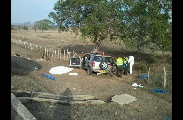 Así quedó la camioneta accidentada.