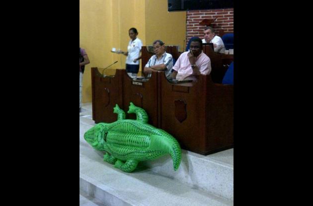Caimán en el Concejo de Cartagena