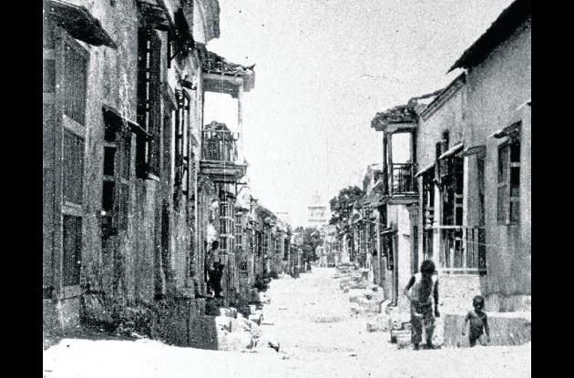 Calle Portobello en 1908.