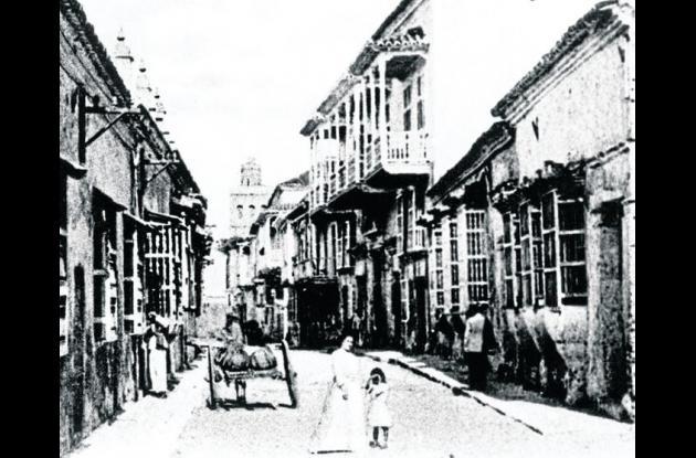 Calle Sargento Mayor en 1900.