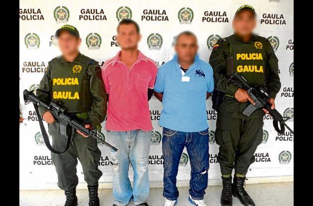 Capturados por extorsión en el barrio España.