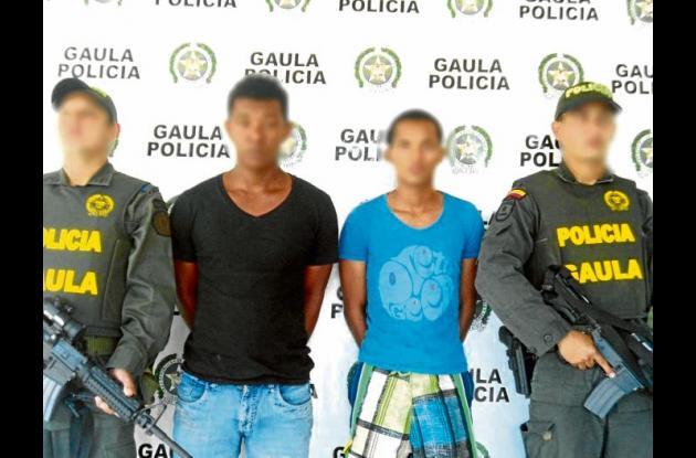 Capturados por extorsión en el barrio El Socorro.