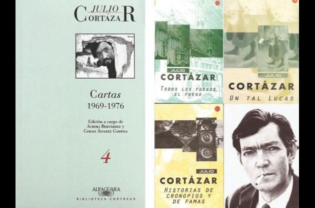 Carátulas de obras de Julio Cortázar.