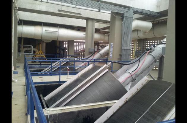 Planta de pre- tratamiento de las aguas residuales del Emisario Submarino.