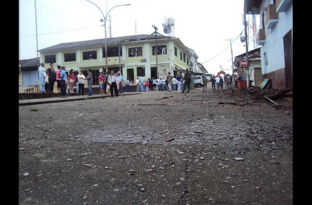 explosion en el cauca estaciond e policia