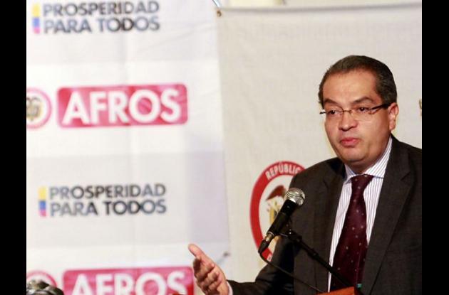Fernando Carrillo, ministro del Interior.