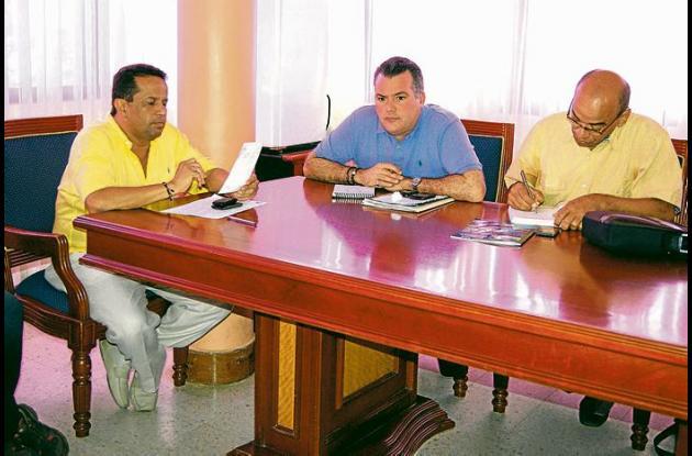"""""""Tuto"""" Zabala Jr, el alcalde de Cereté Francisco Padilla y Alberto Agámez"""