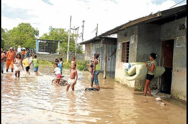 Comunidades de Sucre afectadas por el fenómeno de la Niña