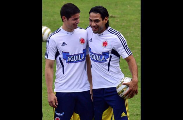 James Rodríguez y Falcao García.
