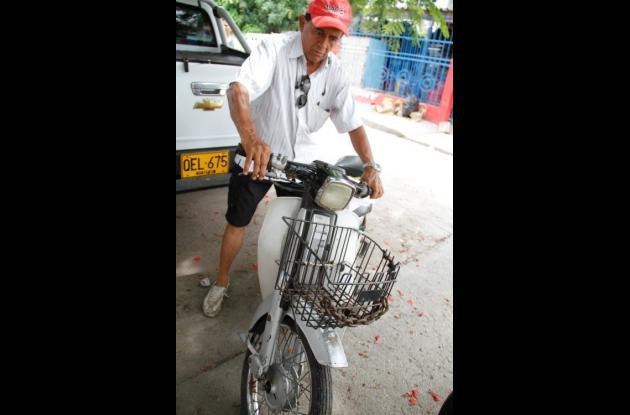 motocicleta inmovilizada