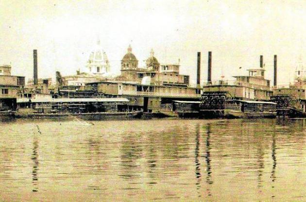 1925: Desde el Muelle de los Pegasos, mirando a San Pedro.