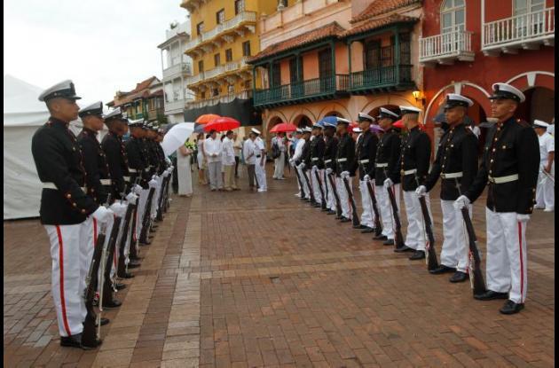 ofrenda floral a Cartagena