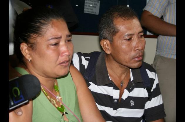 Padres de Angie Paola Ortega Palma