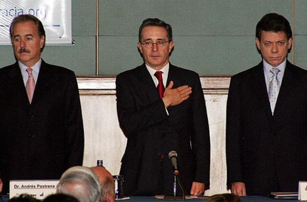 Andrés Pastrana Arando, Álvaro Uribe Vélez, Juan Manuel Santos.