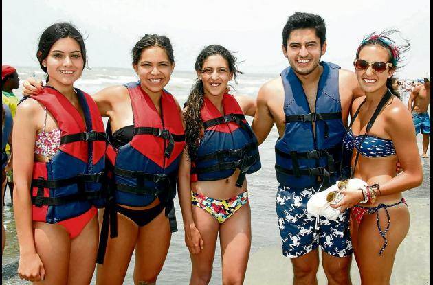 Disfrutaron de las playas de Cartagena....