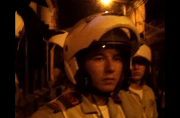 Édgar Hernán Mejía Flórez, uno de los policías implicados en el caso.