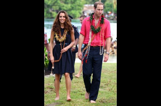 El príncipe Guillermo y la princesa Catalina.