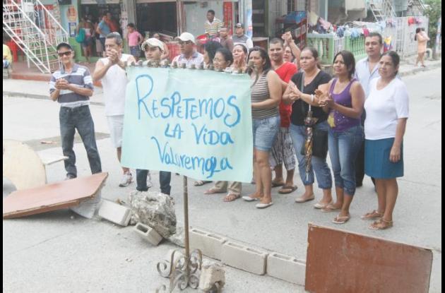 protesta en la consolata