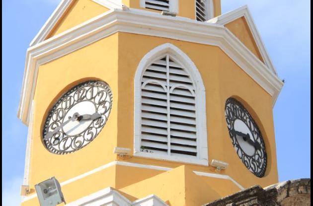 Torre del reloj. Reloj público de Cartagena de Indias