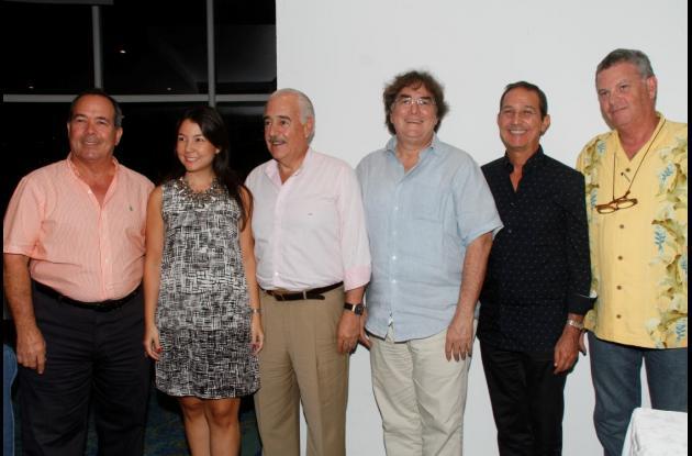 Carlos Otero, Cecilia Otero, Andrés Pastrana, Hector García, Fernando Araújo y Hernán Guillermo Piñeres.