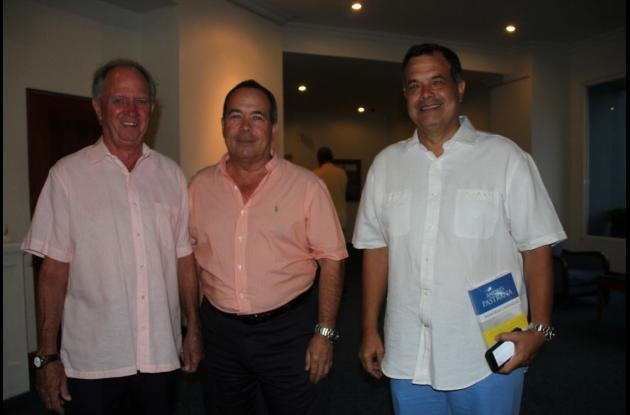 Miguel Arango, Carlos Otero y Jaime Otero.