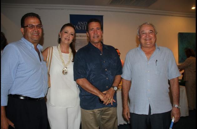 Rafael Pereira, Catalina de Arango, Gabriel Arango Bacci y Antonio Pretelt.