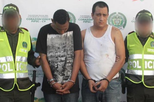Rafael Mieles Correa y Fabio Ramírez Ayala, asegurados por asalto a banco Helm Bank en Manga.