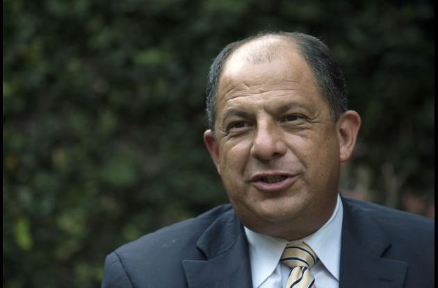 Luis Guillermo Solís, candidato opositor de Costa Rica.