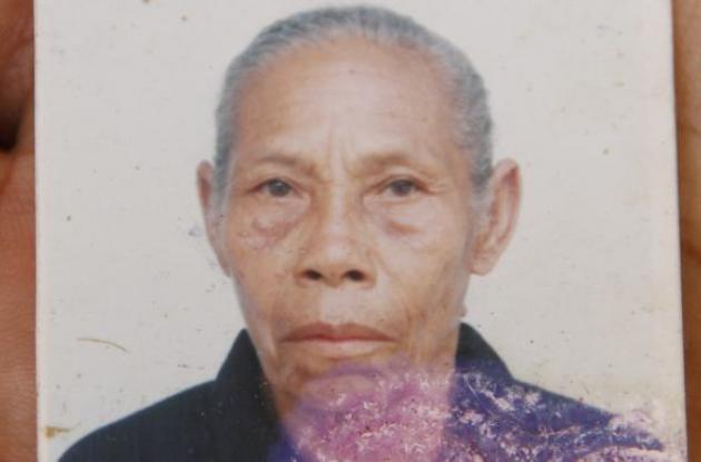 Belsa Mercado, anciana que habría sido asesinada por un sobrino en Villanueva.