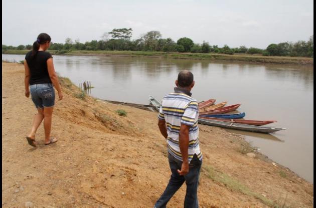 Sitio del Canal del Dique, en Mahates, donde se ahogó Humberto Salas, agricultor.