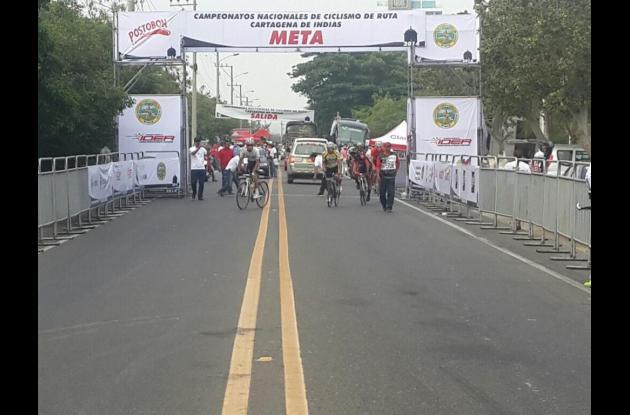 Prueba contrarreloj de la edición 56 de los Campeonatos Nacionales de Ciclismo en Ruta Alcaldía de Cartagena-Ider.