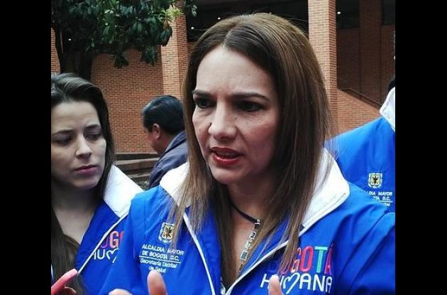 La secretaria encargada de Salud de Bogotá, Waldetrudes Aguirre