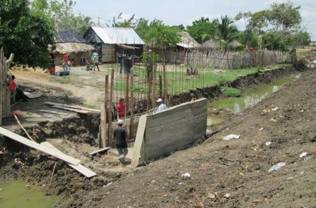 Canal de aguas lluvias de Zambrano