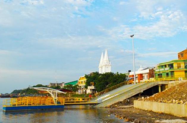 Muelle fluvial de Magangué