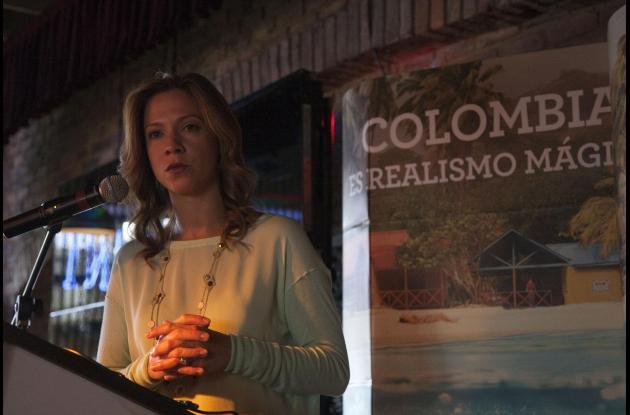 María Claudia Lacouture, presidenta de Proexport, durante la presentación de los resultados de la campaña