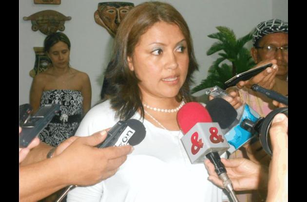 María Isabel Valencia, esposa de Jairo Zapa, director de la Dirección de Regalías de Córdoba.