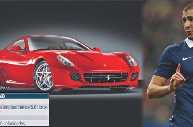 Karim Benzema posee un Ferrari 599 GTB Fiorano.