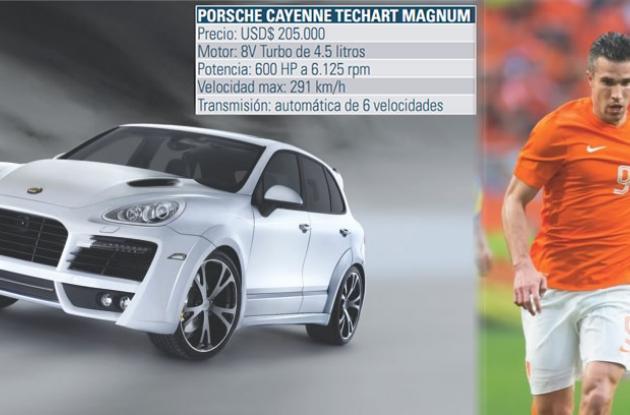 Robin Van Persie, tiene una Porsche Cayenne Techart Magnum.