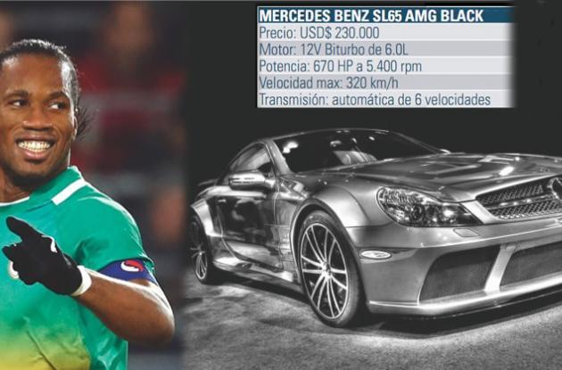 Didier Drogba tiene en su haber un Mercedes Benz modelo SL65 AMG Black.