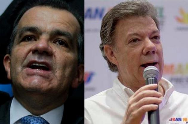 Óscar Iván Zuluaga y Juan Manuel Santos.
