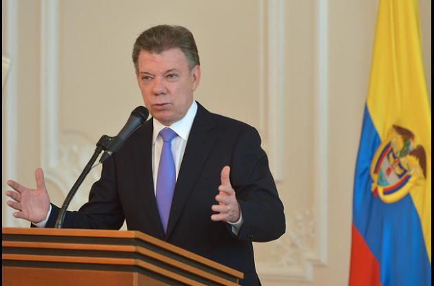 Juan Manuel Santos, Presidente de la República colombiana que aspira a una reelección.