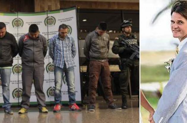 Combinación de fotos: (izq.) taxistas considerados como presuntos responsables de la muerte del agente de la DEA. (der) James Terry Watson.